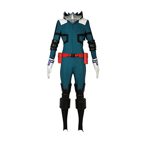 (CosplayDiy Men's Suit for My Hero Academia Akademia Izuku Midoriya Cosplay (L, Jumpsuits Set Style)