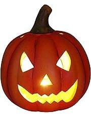 khevga Halloween decoratie pompoen herfstdecoratie windlicht decoratieve pompoen LED verlicht