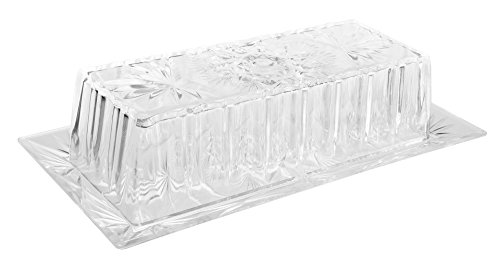 Snowflakes Break Resistant Plastic Butter Dish with Lid ()