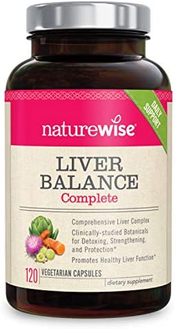 NatureWise Liver Cleanse Premium Detox 2 Month Supply Advanced Triple Formula Liver Detoxifier, Regenerator, and Protector – Natural Herbal Supplements, Milk Thistle, Turmeric Curcumin 120 Count