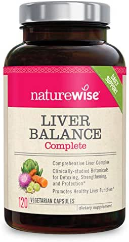 NatureWise Liver Cleanse Premium Detox | Advanced Triple Formula Liver Detoxifier Regenerator & Protector | Natural Herbal Supplements with Milk Thistle, Turmeric Curcumin [2 Month Supply - 120 Count]