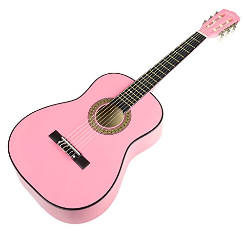 Music Alley MA-34-PNK Acoustic Guitar Pack, Pink
