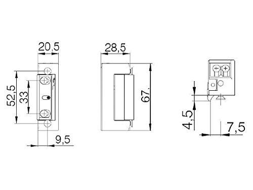 Hervorragend DORCAS Elektrischer Türöffner mit Tagesentriegelung E-Öffner KU15