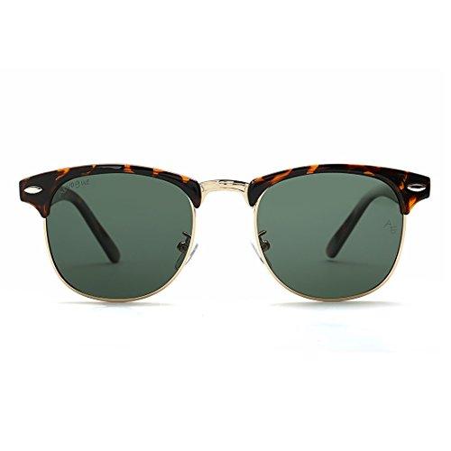 AEVOGUE Polarized Sunglasses Semi-Rimless Frame Brand Designer Classic AE0369 Tortoise&g15