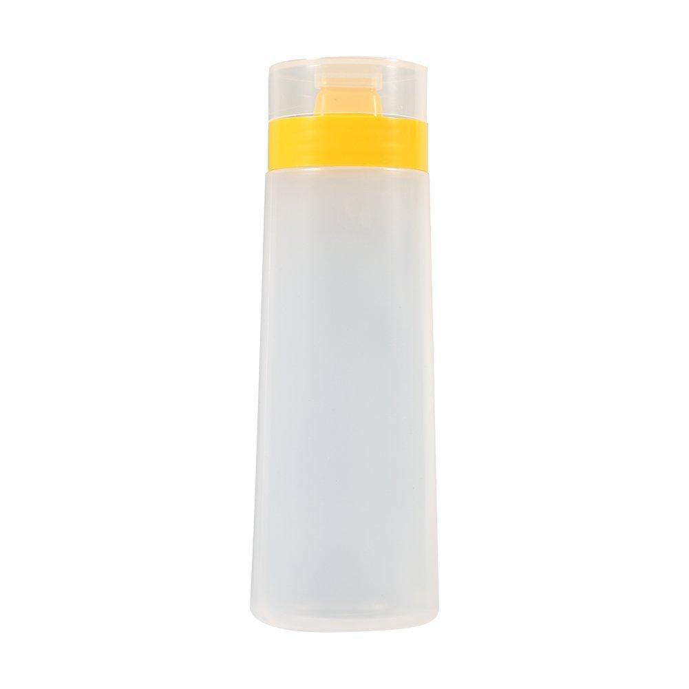 Fdit Amarillo Rojo 4 Agujeros de Botella de Salsa de Condimentos Resina Segura para Tomate Mayonesa Aceite de Oliva Vinagre Socialme-EU Amarillo