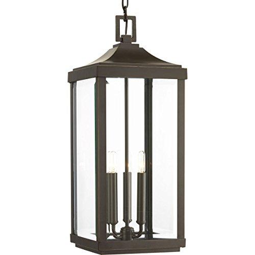 Progress Lighting P550004-020 Gibbes Street Three-Light Hanging Lantern, Antique Bronze
