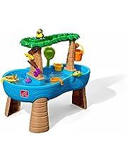 Step2 Watertafel Tropical Rainforest met 13-delig accessoireset   Waterspeelgoed voor kind met tropisch regenwoud   Activiteitentafel met water voor de tuin in blauw & bruin