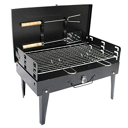 Zjnhl Family Gathering/Small Barbecue Charcoal Grill Cooking Tool Multi-Function Oven Portable Folding Family Friends Colleague Outdoor Camping Picnic Garden Fishing Garden Outdoor Barbecue Supplies
