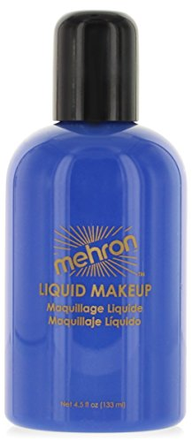 Mehron Makeup Liquid Face & Body Paint, BLUE - 4.5oz (Quickly Clown Costume)