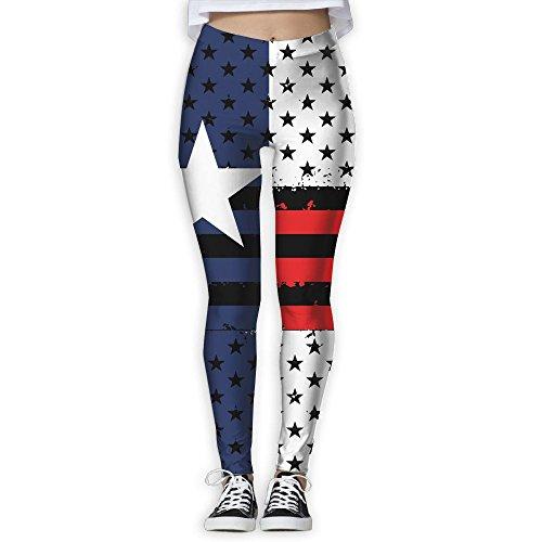 Women's Girl Texas USA Flag Grunge Fashion Slim High Waist Tights Yoga Pants Sport Gym Running Fitness Workout Leggings Skinny Long Sportswear (Texas Workout Pants)