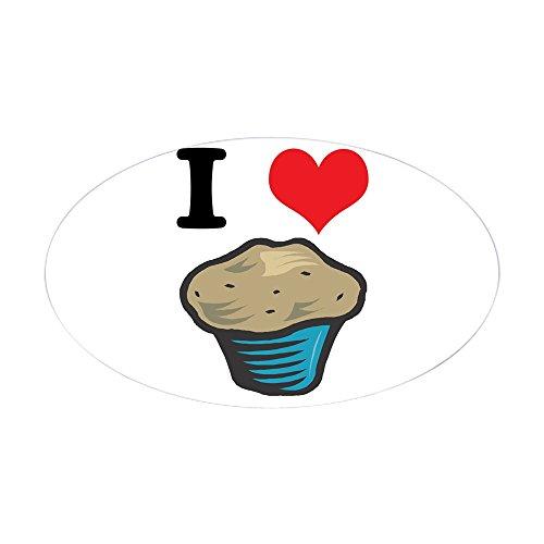 CafePress I Heart (Love) Muffins Oval Sticker Oval Bumper Sticker, Euro Oval Car Decal