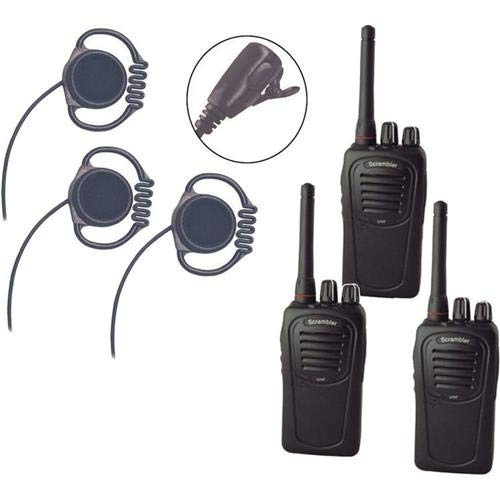 Eartec SC-1000 3-User Two-Way Radio System with 3X Loop Inline PTT Headsets -