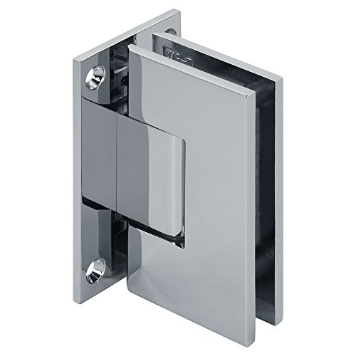 Modexo Venus Senior Wall Mount Square Heavy Duty Full Back Shower Hinge, Polished Chrome ()