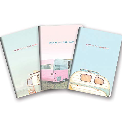 Studio Oh! Notebook Trio of 3 Coordinating Designs, A Closer Look Live in the Moment (Live Notebook)