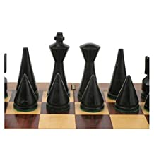 Wooden Contemporary Modern Chess Pieces