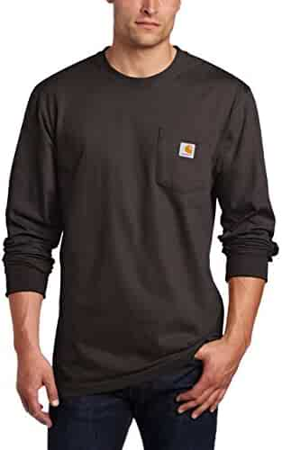 Carhartt Men's Workwear Jersey Pocket Long-Sleeve Shirt K126 (Regular and Big & Tall Sizes)