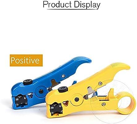 Azul plano o redondo UTP/STP Cable coaxial coaxial herramienta para desmontar Universal cortador de cable universal Pelacables para GR59/6/7/11: Amazon.es: Bricolaje y herramientas