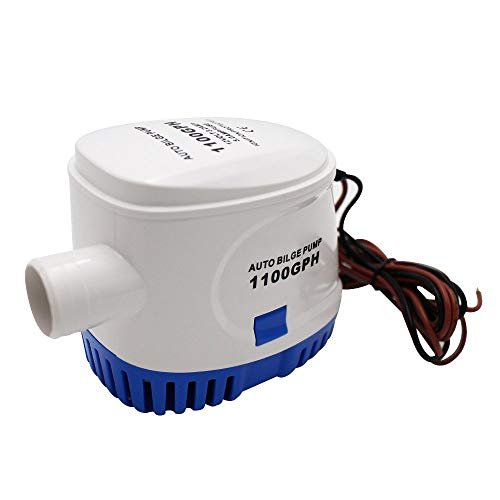 XCH Automatic Submersible Boat Bilge Water Pump 12v 1100gph Auto with Float Switch 3/4 inch Outlet