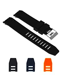 StrapsCo Silicone Rubber Watch Band Strap for Omega Seamaster Planet Ocean