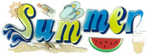 Jolee's Boutique Dimensional Stickers, Summer
