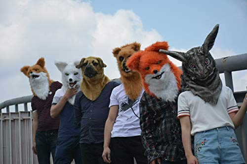 Fashion Animal Mask Animal Mask Popular Handmade Moving Mouth Fox Mask furry Mask Halloween Animal Party Mask For Christmas Easter Carnival Costume Parties Tag Party Night Club Animal Head Mask Animal -