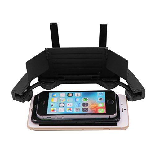 Honsky Fold Flat 4-6 Inch Phone Screen Hood Sunshade, Compatible with DJI Mavic Pro Spark, iPhone 7 6 Plus 5 Samsung Android Smartphone, Phone Monitor Cover Sun Shade Shield, Black