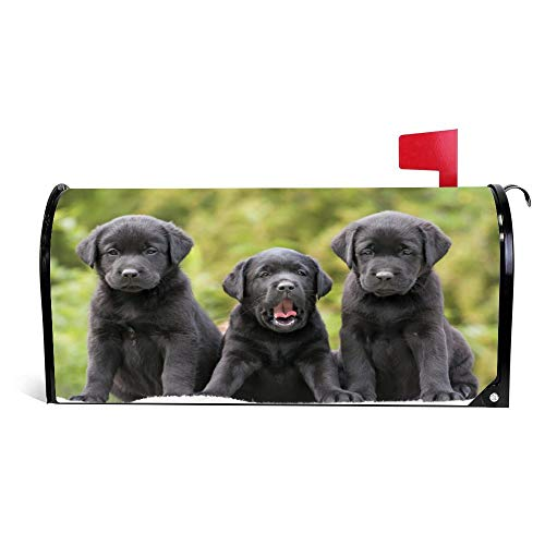 DKISEE Magnetic Mailbox Cover Labradors-Retrievers-Puppies-Three-Funny Mailbox Wraps Post Letter Box Cover 18