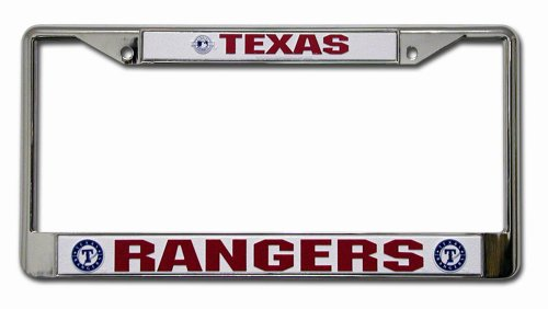 Texas Rangers Chrome License Plate Frame (Texas Rangers Frame)