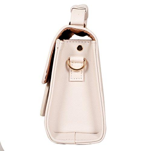 Lino Perros , Damen Schultertasche Weiß weiß Freie Größe