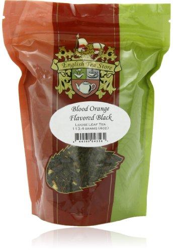 English Tea Store Loose Leaf, Blood Orange Flavored Black Tea, 4 Ounce
