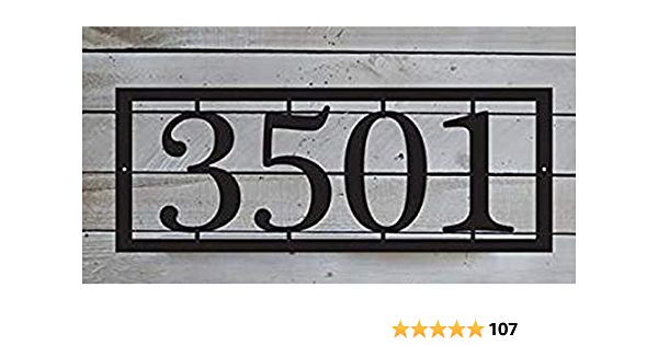 Metal Sign House Number Door Sign Mailbox Number EvyAnn Designs Horizontal Address Plaque HN1129 Number Sign Metal Address Number