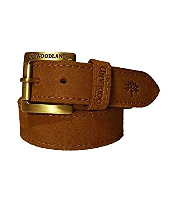 Wood Land Mens Camel Brown Genuine Leather Casual Belt for Men ( Size:  42