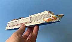 """Beautiful SOUVENIR SERIES cruise liner ship model in scale 1:1250. NORWEGIAN GETAWAY . Scale 1:1250. Size: model - 10 1/4"""" (26.1cm) Made by SCHERBAK SHIP MODELS in very small quantity. Scherbak models are not mass produced cheap product - but..."""