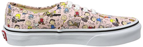 Vans Unisex-Kinder Peanuts Authentic Sneaker Mehrfarbig (Peanuts/ Dance Party/pink)