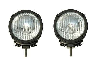 100w Halogen Off Road Lights with Cast Aluminum Housing and Tungsten Bulb - PAIR OF LIGHTS(-12 Volts-Flood)