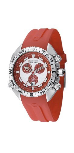 Sector Men's R3271966015 Yacht Master Collection Chronograph Red Polyurethane Watch