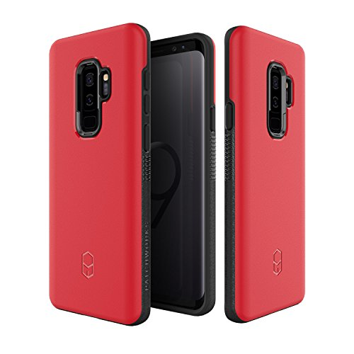 Samsung Galaxy S9 Plus Case, Patchworks [Level ITG Series in Red] One Piece TPU PC Hybrid Dual Material Matte Finish Side Grip with Added Air Pocket and Drop Tested Hard Case for Galaxy S9 Plus
