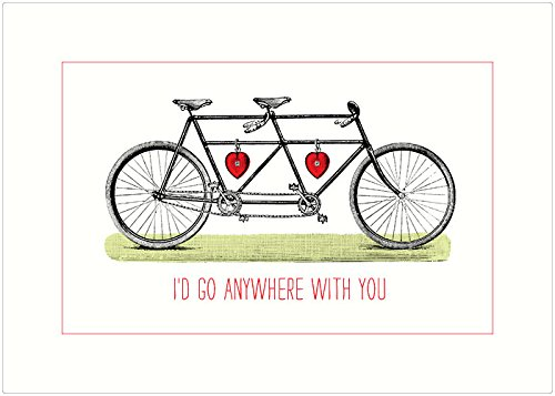 Bicycle Birthday Card (Lucca Paperworks Go Anywhere Blank Card, 5x7 (1))