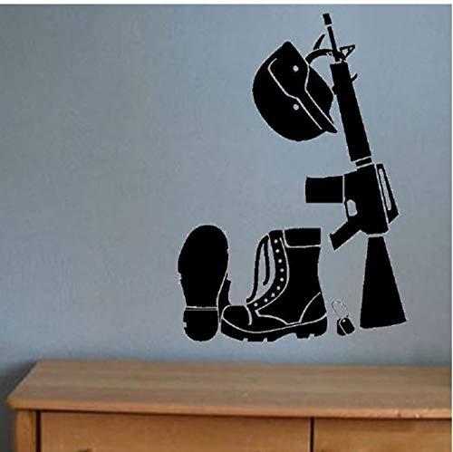 Botas de equipo militar arma pistola impermeable pegatinas de ...