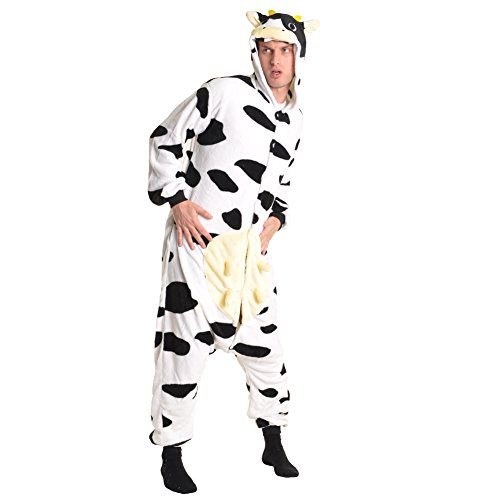 [Angelina Unisex Plush Animal Onesies Pajamas #91158 XS Cow] (Women Cow Costumes)