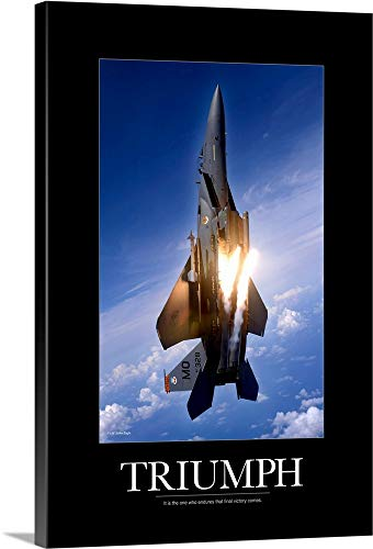 - Kate Lillyson Premium Thick-Wrap Canvas Wall Art Print entitled Motivational Poster: An F-15E Strike Eagle pops flares 24