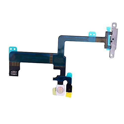 Johncase New OEM Switch On/Off Power Button + Volume Control + Flash Light + Mic + Mute Connector Flex Cable w/Bracket Replacement Part for iPhone 6 Plus 5.5