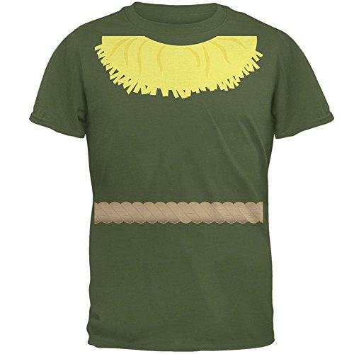 Halloween Scarecrow Costume Mens T Shirt Military Green SM -