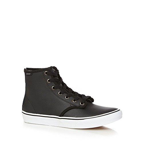 Vans Camden Hi, Women's Hi-Top Sneakers Black Leather Lace Up With Back Zip Black Leather
