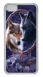 iPhone 5C Cases & Covers Dreamcatcher Wolves Custom PC Hard Case Cover for iPhone 5C Transparent wangjiang maoyi