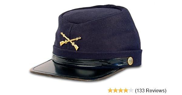 Amazon.com  Civil War Kepi Union Army Wool Hat Blue Lined US North (Hats  size 57 cm)  Clothing 1b7b68bdc182