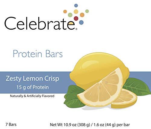 Celebrate Zesty Lemon Crisp Protein Bars -