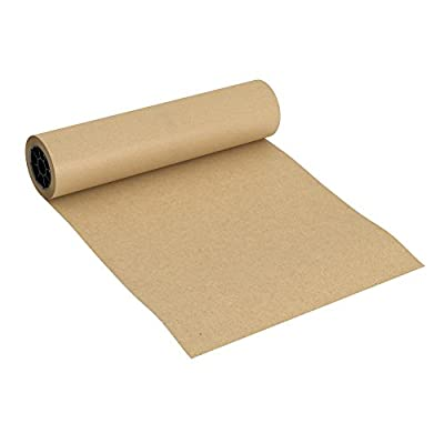 "Brown Jumbo Kraft Paper Roll - 18"" x 2100"" - Made in The USA - Ideal for Packing, Moving, Gift Wrapping, Postal, Shipping, Parcel, Wall Art, Crafts, Bulletin Boards, Floor Covering, Table Runner"