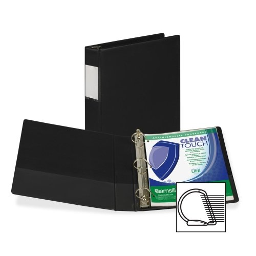 Wholesale CASE of 15 - Samsill Clean Touch Antimicrobial D-Ring Binders -Antimicrobial D-Ring Binder, 1-1/2'' Cap, Anti Micro, Black