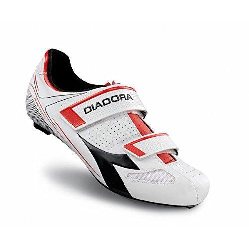 Diadora Men's Phantom II Road Cycling Shoe - 170220-C1425 (White/Red/Black - (Diadora Cycling Shoes)